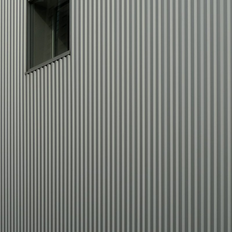 detail of a window in a perimetral wall in a modern building in San Francisco